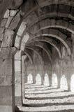 Galería antigua en Aspendos, Turquía Fotografía de archivo libre de regalías