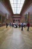 Galería europea en el museo del Louvre, París, Francia fotografía de archivo