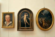 Galería interior de Uffizi en Florencia, Italia Imagen de archivo libre de regalías