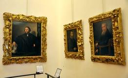 Galería interior de Uffizi en Florencia, Italia Foto de archivo libre de regalías