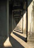 Galería interminable en Angkor Wat, Camboya Foto de archivo libre de regalías