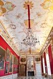 Galería magnífica en el palacio de Schleissheim, Baviera, Alemania foto de archivo