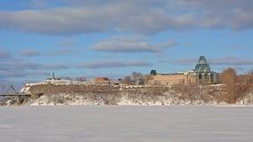 Galería nacional y colina nepean del puesto de observación del punto, Ottawa en un día de invierno fotografía de archivo libre de regalías