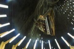 Galería Salina Turda de la mina de sal en Rumania fotografía de archivo