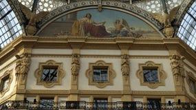 Galería Vittorio Emmanuele II, detalles milano Italia imagen de archivo libre de regalías