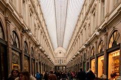 Galerías reales del santo Huberto en Bruselas Imagen de archivo libre de regalías