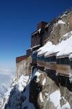 Galería de la visión en pico de montaña cerca de Mont Blanc Imagen de archivo libre de regalías