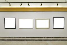 Galería de lonas en blanco Foto de archivo libre de regalías