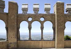 Galeria árabe no palácio de Pena, Sintra Foto de Stock