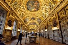 Galeria Apollo w Muzealny louvre zdjęcia royalty free