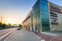Galeria Baltycka in Gdansk at sunset, Poland Stock Photos