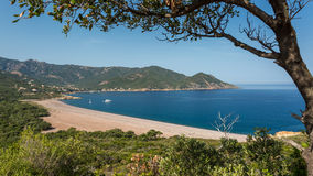 Galeria beach in Corsica Stock Photo