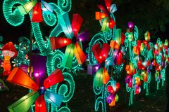 Galeria chinesa do moinho de vento do ano novo de festival de lanterna Fotos de Stock Royalty Free