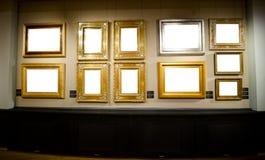 Galeria com quadros para suas imagens Fotografia de Stock Royalty Free
