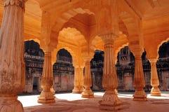Galeria da coluna em Jaipur Fotografia de Stock
