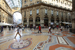 Galeria da compra de Milão Imagens de Stock