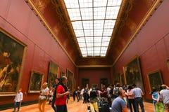 Galeria da pintura na grelha Paris Fotografia de Stock