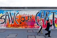 Galeria da zona leste em Berlim, Alemanha Imagem de Stock