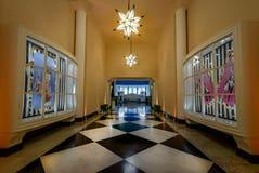 Galeria das Estrelas eller galleri av stjärnor på hotellet för kasino för Quitandinha slott det tidigare - Petropolis, Rio de Jan royaltyfria foton