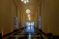 Galeria das Estrelas o galería de estrellas en el hotel anterior del casino del palacio de Quitandinha - Petropolis, Rio de Janei imagenes de archivo