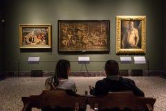 Galeria de arte de Brera, Milão fotografia de stock royalty free