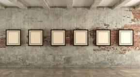 Galeria de arte do Grunge Fotografia de Stock