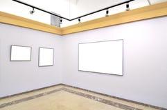 Galeria de lonas em branco Fotografia de Stock Royalty Free