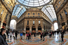 Galeria de Milão, Itália - de Piazza Duomo Imagem de Stock Royalty Free