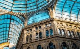 Galeria de Umberto em Nápoles Imagens de Stock Royalty Free