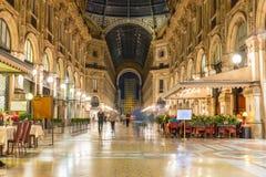 Galeria de Vittorio Emanuele II em Milão fotos de stock royalty free