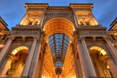 Galeria de Vittorio Emanuele II - Milão, Itália imagens de stock