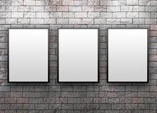 Galeria do indicador com frames de Thre Fotografia de Stock
