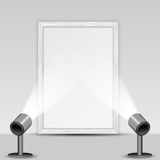 Galeria e projetores de arte Fotos de Stock