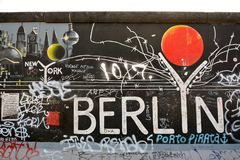 Galeria Eastside, berlinwall, em Berlim Fotografia de Stock Royalty Free