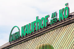 Galeria Kaufhof store at Königsallee Dusseldorf Royalty Free Stock Images