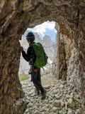 Galeria Lagazuoi - Dolomiti de flautim imagem de stock