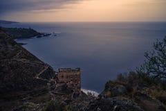 Galeria los angeles Fajana na Tenerife wyspy durin zmierzchu Zdjęcia Stock