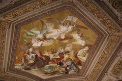 Galeria mapy w Watykan Obrazy Royalty Free