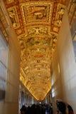 Galeria mapy w Watykan Zdjęcia Royalty Free