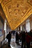 Galeria mapy w Watykan Fotografia Royalty Free