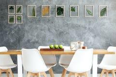 Galeria obramiający tropikalni liście Zdjęcie Stock