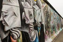 Galeria sztuki Berlińska ściana przy wschodnią częścią Berlin, Niemcy zdjęcie stock