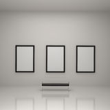 galeria sztuki wśrodku obrazu Obraz Stock