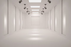 Galeria vazia branca Imagem de Stock