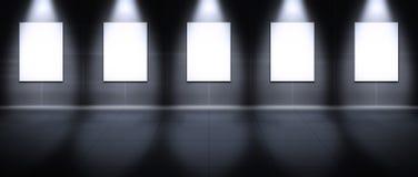Galeria virtual - retrato Foto de Stock