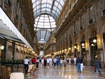 Galeria Vittorio Emanuele em Milan Itlay Fotos de Stock