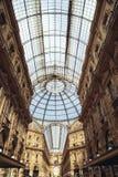 Galeria Vittorio Emanuele II Fotografia de Stock Royalty Free