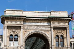 Galeria Vittorio Emanuele II Foto de Stock Royalty Free