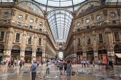Galeria Vittorio Emanuele II em Milão Fotos de Stock
