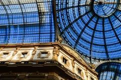 Galeria Vittorio Emanuele II em Milão central, Itália Fotografia de Stock